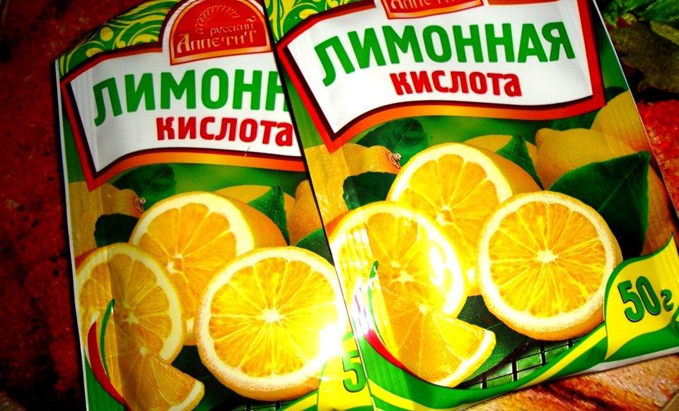 Смесь лимонной кислоты с хлоркой